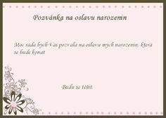 šablona na pozvánku k narozeninám Pozvánka na oslavu narozenin   vzor ke stažení a vytisknutí  šablona na pozvánku k narozeninám