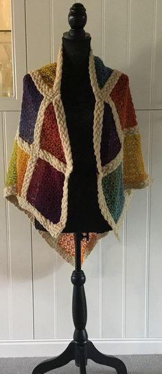 Lace knitting, aran knitting, Garn og Pind