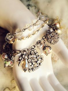 DIY...lovely three-strand bracelet...kit is 35 dollars...from A Gilded Life....I love rhinestones and this is gorgeous!