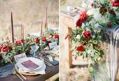 Rustic Holiday Wedding Inspiration   Green Wedding Shoes Wedding Blog   Wedding Trends for Stylish + Creative Brides