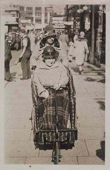 photograph; gelatin silver print; postcard-mounted - Sutton High Street