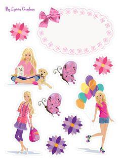 Barbie Birthday Party, Barbie Party, Bolo Barbie, Barbie Cartoon, Homemade Stickers, Barbie Paper Dolls, Blue Nose Friends, Cartoon Stickers, Printable Planner Stickers
