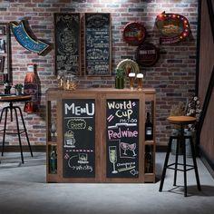 Bar Dining Table, Pub Table Sets, Bar Tables, Pool Table, Dining Room, Fresco, Chalkboard Bar, Home Bar Designs, Contemporary Bar