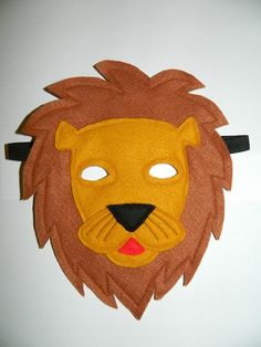 Child's Felt Play Mask  Lion by SharonsPuppets on Etsy, $25.00