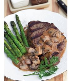 ...Grilled Sirloin Marsala... ...Recipe by George Stella...