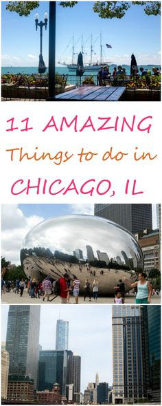 11 Amazing Things to do in Chicago, IL - If you are looking to go for a long week or even for a short weekend trip to Chicago, here are the top 11 things to do in Chicago! Contains the best eats, where to see the skyline, and which neighborhoods to visit! Chicago Vacation, Chicago Travel, Chicago Tours, Places In Chicago, Chicago Things To Do, Visit Chicago, Usa Travel, Chicago Trip, Chicago Illinois