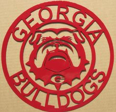 Georgia Bulldogs Metal Sign by metalbyvirgil on Etsy