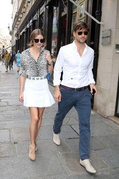 Olivia Palermo and Johannes Huebl in Paris