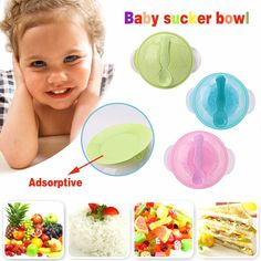 New Baby Kids Children Suction Cup Bowl Slip-resistant Tableware Set Sucker Bowl Baby Sucker, Suckers, Plates And Bowls, Own Home, New Baby Products, Baby Kids, Children, Tableware, Garden