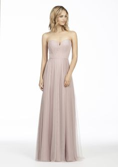 c0e49ab704c7c Style 5767 Hayley Paige Occasions bridesmaids dress - Dusty Rose English  net strapless bridesmaids gown, pleated bodice, natural waist with gathered  skirt.