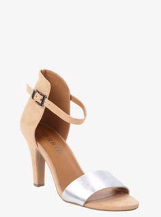 Colorblock Metallic Heels (Wide Width)