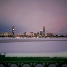 Boston in snow