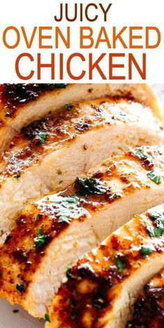 JUICY OVEN BAKED CHICKEN BREASTS Simple and easy method for how to make perfectly juicy and deliciously seasoned oven baked chicken breasts chickenbreasts easydinner quickrecipes Quick Recipes, Baking Recipes, Healthy Recipes, Crockpot Recipes, Vegetarian Recipes, Simple Food Recipes, Easy Main Course Recipes, Easy Oven Recipes, Baking Pan