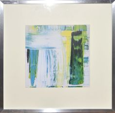 Framed print 61713 blue green, $175.00 by Lindsay Cowles Fine Art
