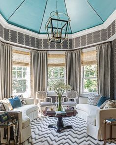 A fabulous transitional sunroom in Atlanta~