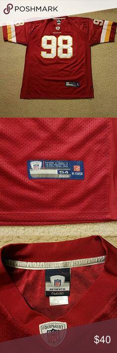 Authentic Reebok Brian Orakpo jersey Burgundy & white mesh Washington Redskins football jersey Reebok Shirts