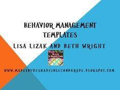 behavior management templates can be used to review, teach, and model positive behaviors at school