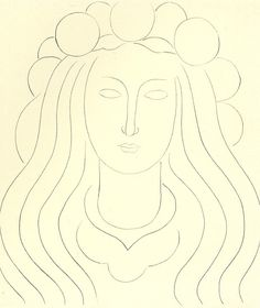 Henri Matisse- FATA WITH HAT OF LIGHT, MEMORY OF MALLARME dry point etching on Chinese paper 36.6 x 32 cm. Private Collection 1933