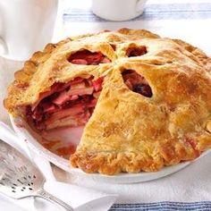 Apple-Cherry Cream Cheese Pie Recipe is shared by Donna L. Rettew of Jonestown, Pennsylvania.