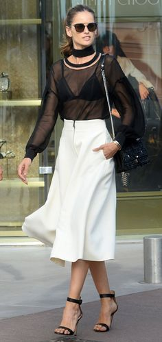 Izabel Goulart out in Cannes. #bestdressed