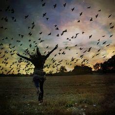 Free as a bird!    yuria:    fly like a bird by .bella. on Flickr.