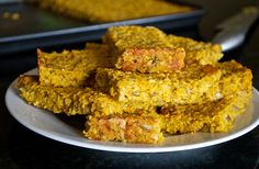 Speedy savoury flapjacks