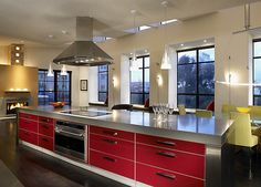 I love red ...Ten of the Most Amazing Kitchens in America