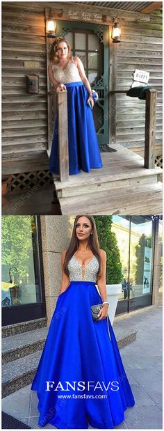 Long Formal Dresses Royal Blue, A-line Prom Dresses Open Back, V-neck Wedding Party Dresses 2019 - - Royal Blue Formal Dresses Long Prom Dresses V-neck, A-line Evening Dresses Elegant, Open Back Wedding Party Dresses Satin Source by fansfavs Pretty Homecoming Dresses, Sparkly Prom Dresses, Princess Prom Dresses, A Line Prom Dresses, Beautiful Prom Dresses, Pageant Dresses, Modest Dresses, Party Dresses, Cheap Dresses