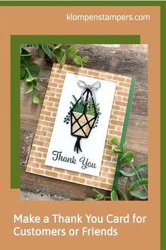 I make thank you cards all the time for customers, friends, & neighbors who do kind deeds. I'm happy to share this thank you card idea and design with you. This card works as a masculine card too. Video tutorial included. Big Flowers, Paper Flowers, Email Cards, Bloom Where Youre Planted, Card Making Tips, Perfect Plants, Masculine Cards, Card Tags, Flower Cards