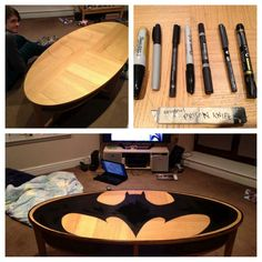 Creativity and DIY: House Ornaments – Batman Logo Coffee Table