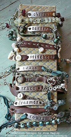 Bracelets... inspirational quotes