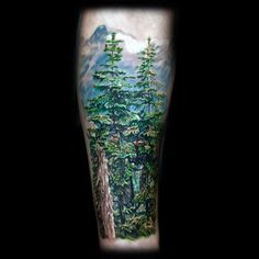 Forest Tattoos for Men | 100 Nature Tattoos For Men - Deep Great Outdoor Designs
