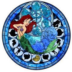 Fan Art of Ariel Stained Glass for fans of Disney Princess. Disney Pixar, Ariel Disney, Princesa Disney, Disney Little Mermaids, Ariel The Little Mermaid, Disney Fan Art, Disney And Dreamworks, Disney Love, Disney Magic