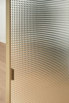 Chequered printed crystal sliding door SHERAZADE SLIDE by Glas Italia