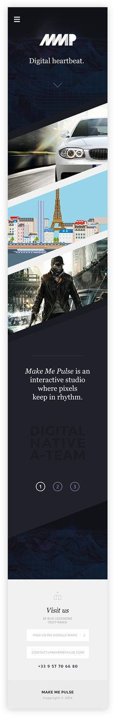Make Me Pulse — Agency Website on Behance