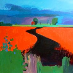 Fred INGRAMS Burnt Chimney Drove looking back to Hundred Foot Drain