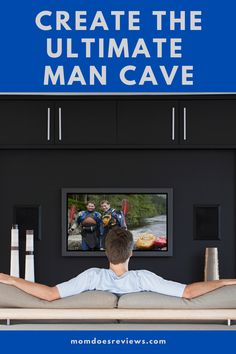 How to Create the Ultimate Man Cave - Mom Does Reviews Ultimate Man Cave, Make A Game, Television Set, Sound Proofing, Negative Emotions, Your Man, Do It Right, Spare Room, Dark Colors