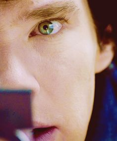Sherlocks beautiful eyes.... They are like galaxies... I expect to see a little TARDIS in there