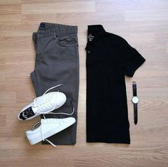 """Gefällt 6,711 Mal, 26 Kommentare - Stylish Grid Game (@stylishgridgame) auf Instagram: """"Black and Olive with Crisp White Sneakers in this Classic Grid by @randycabral Follow …"""""""