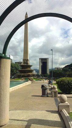 Obelisco de la plaza Altamira Caracas,Venezuela.