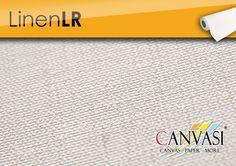 Linen LR Canvas Paper, Base Coat, Linen Fabric