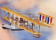 1940s Vintage AIRPLANE Print NC-4 FLYING Boat by BlastsFromThePast