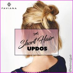 Easy Updos for Short Hair Short Hair Updo, Short Hair Styles, Prom Tips, Short Pixie, Pixie Cuts, Short Hair With Layers, Prom Hair, Easy Hairstyles, Updos