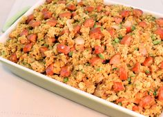 Cornbread Stuffing with Caramelized Onions and Johnsonville Andouille Sausage