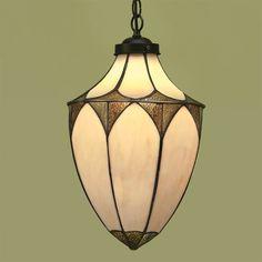 Sospensione / Lanterna Tiffany Gialla