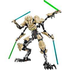 "Lead the Separatist Droid Army with super-tough General Grievous as you've never seen him before! This amazing buildable LEGO® version of the feared Supreme Commander features fully posable limbs, 2-into-4 separating arms and 4 buildable Lightsabers. This ultra-fast General is ready for intense battle!<br><br>Toys'R'Us is Destination: Star Wars - Your Source for The Force! We've got the hottest Star Wars toys including action figures, collectibles, electronics & more <a href=""http://www...."