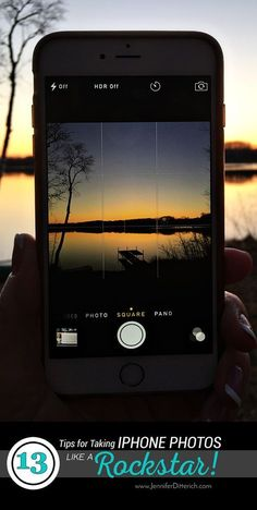 13 Tips for Taking iPhone Photos Like a Rockstar! These easy tricks for iPhone photography will make your photos look amazing and impress your friends. #IphonePhotography