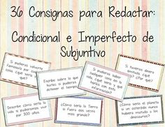 """Each card features a conditional question with either a past subjunctive or past-present subjunctive clause in Spanish (e.g., """"Si fueras rey o reina del mundo, qu haras y por qu?). Cards can be used as conversation starters or writing prompts. Great for practicing these more complicated tenses. *ENGLISH VERSION ALSO AVAILABLE*"""