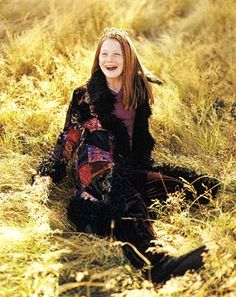 Harry Potter's Bonnie Wright - Vintage Junior - Junior Magazine, one of my old shoots! To think she was just 11 at the time.