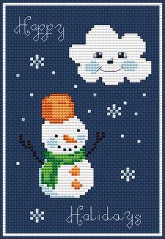 Happy Holidays free cross stitch pattern